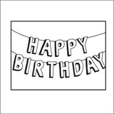 Embossing Folder Birthday Banner / Folder de Grabado Cumpleaños