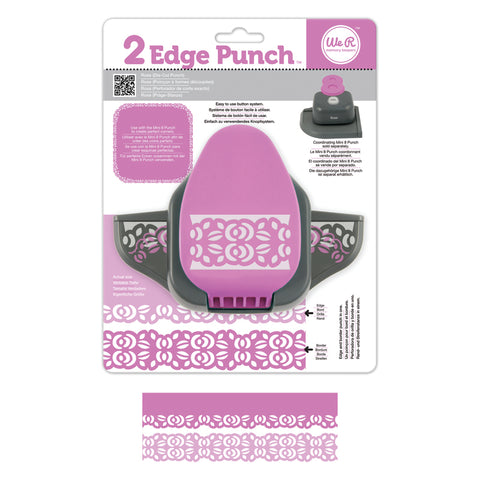 2 Edge and Border Punch Rose / Perforadora de Orilla y Borde Rosa - Hobbees
