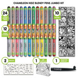 Blendy Pens Jumbo Kit 24 color / Juego de Plumones Multicolor
