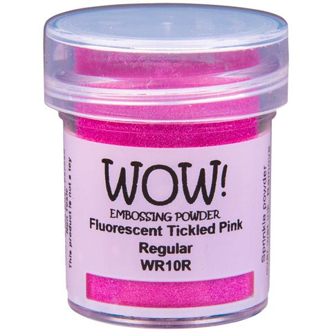 Fluorescent Tickled Pink Embossing Powder / Polvo de Embossing Rosa Fosforescente 1