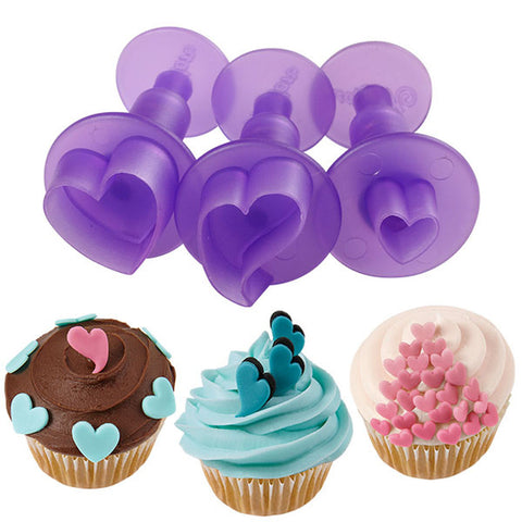 Fondant Mini Cutouts 3 pc Hearts / Cortadores Mini para Pastas - Hobbees