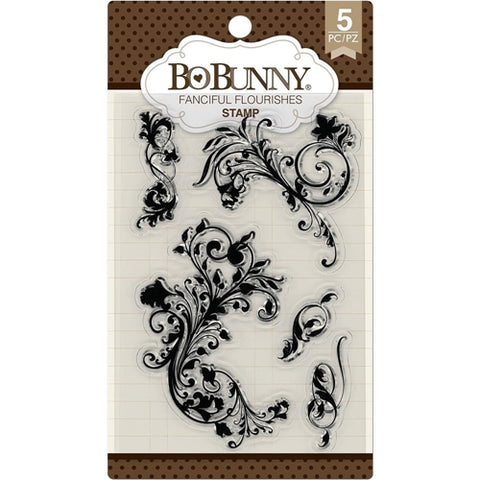 Fanciful Flourishes Clear Stamps / Sellos de Polímero Elegantes