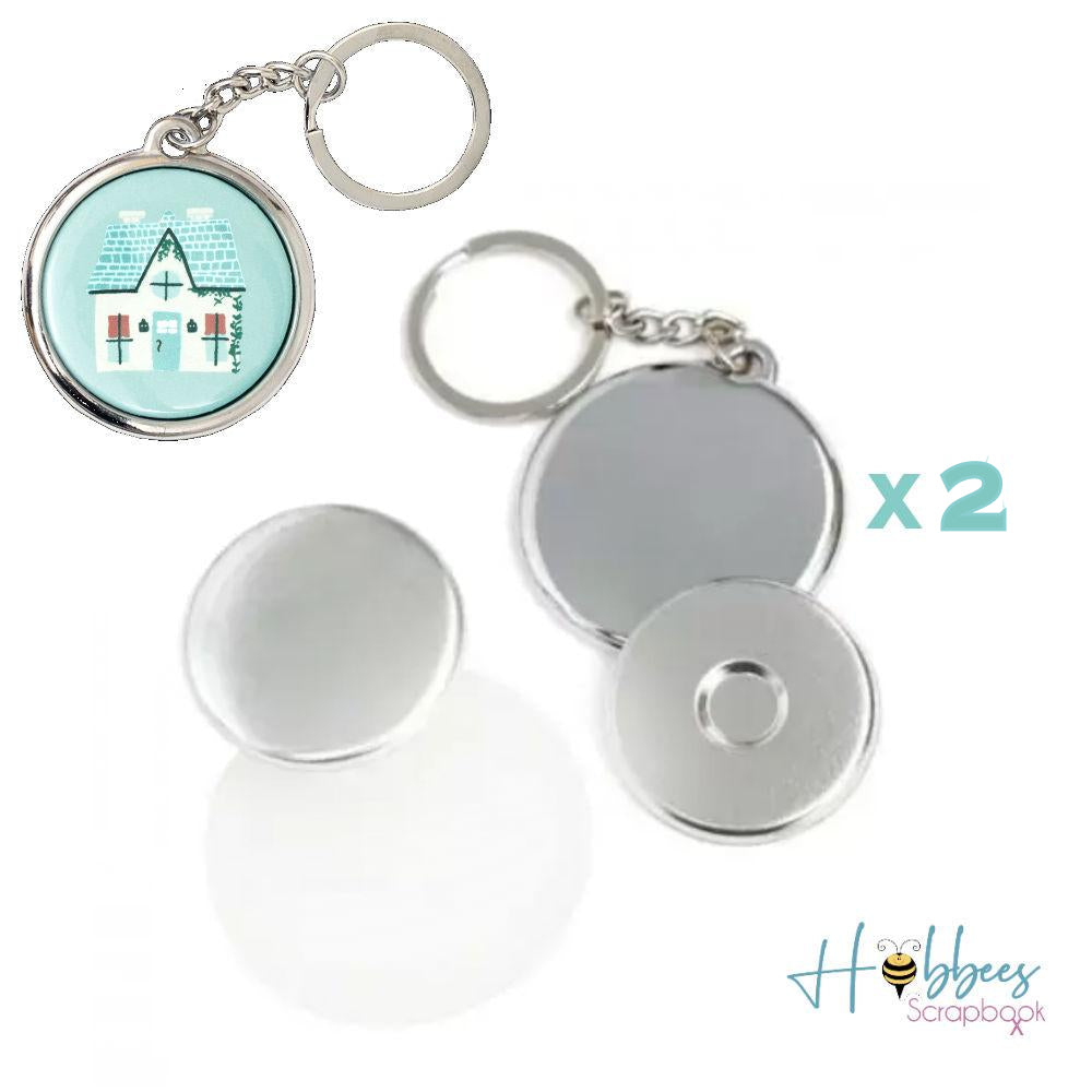 Button Press Keychain Kit / 3 Llaveros Personalizables