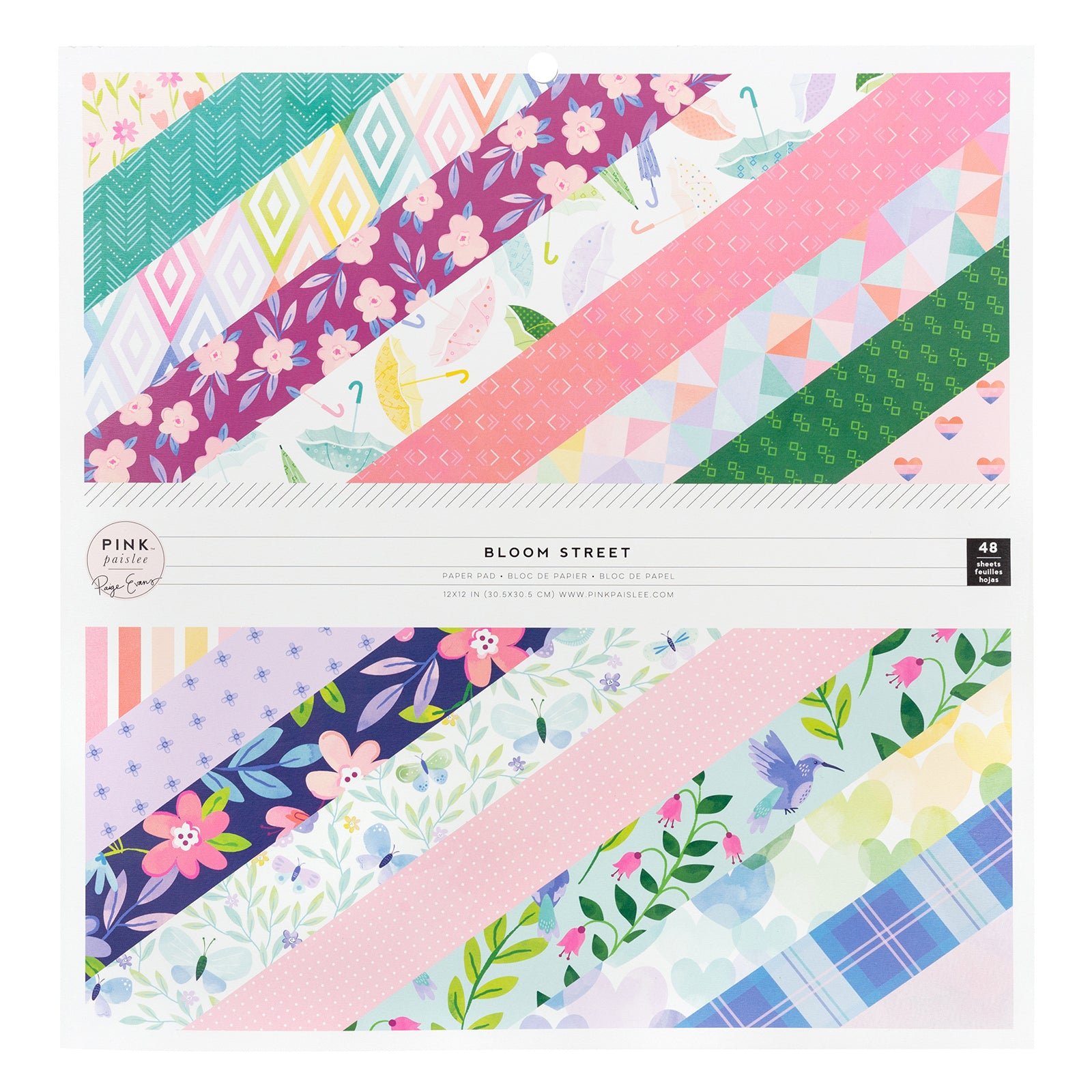 "Bloom Street Paper Pad 12"" / Block de Papel Floreciendo"