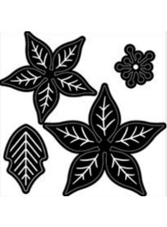 Darice Assorted Poinsettias Die / Suaje Nochebuenas - Hobbees - 1