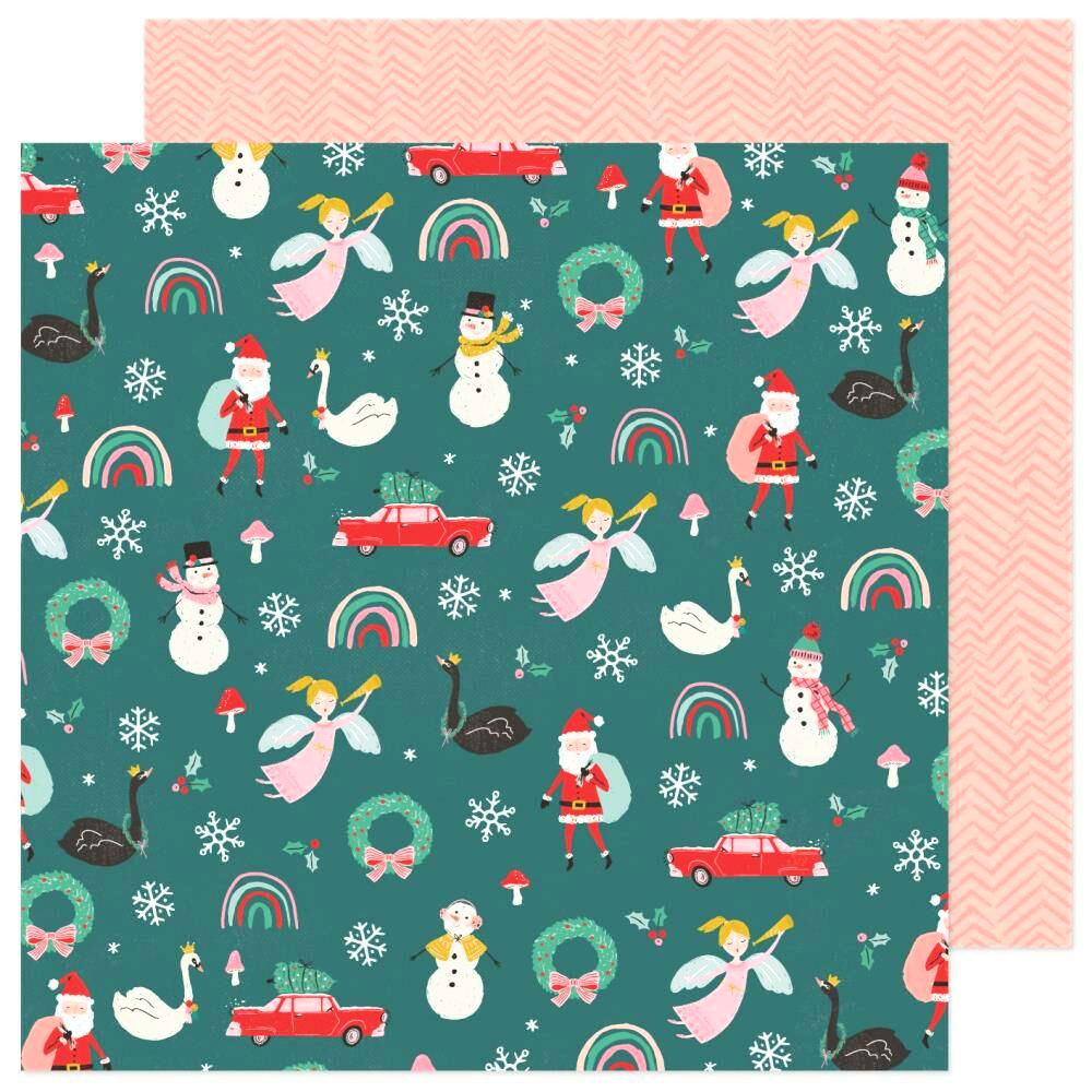 Christmas Magic Patterned Paper / Papel Estampado Doble Cara