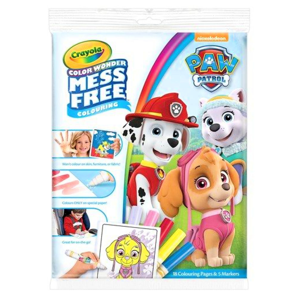 Color Wonder Coloring Kit Paw Patrol / Cuaderno para Colorear con Plumones de Paw Patrol