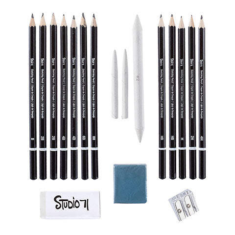 Next Studio 71 Charcoal Sketching Set / Kit de Caboncillo Para Dibujo