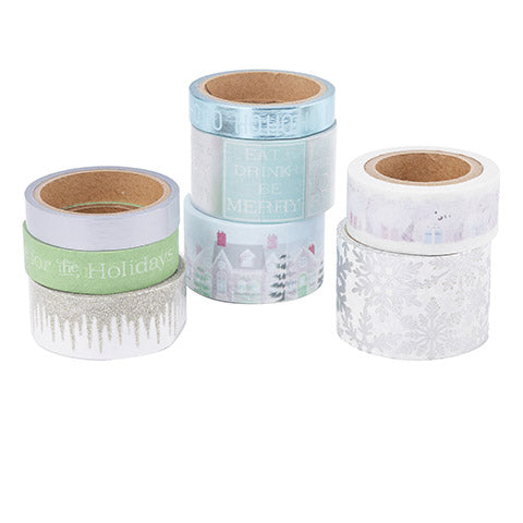 8 Christmas Washi Tape / 8 Cintas Adhesivas Washi