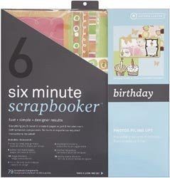 Kit de Scrapbook Rápido  / 6 Minute Scrapbooker Birthday - Hobbees - 1