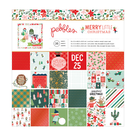 Merry Little Christmas Paper Pad / Block de Papel Decorado Navidad