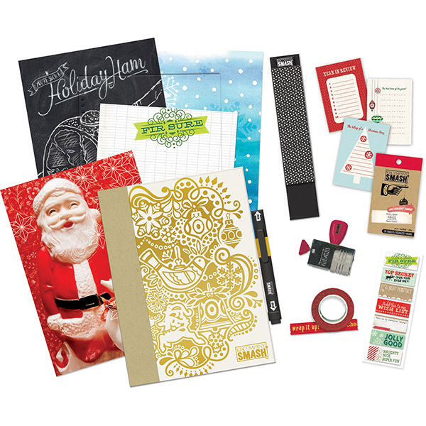 Smash Journal Holiday Bundle  / Kit de Cuaderno Navideño y Accesorios - Hobbees - 1