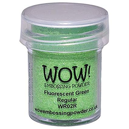 Fluorescent Green Embossing Powder / Polvo de Embossing Verde Fosforescente