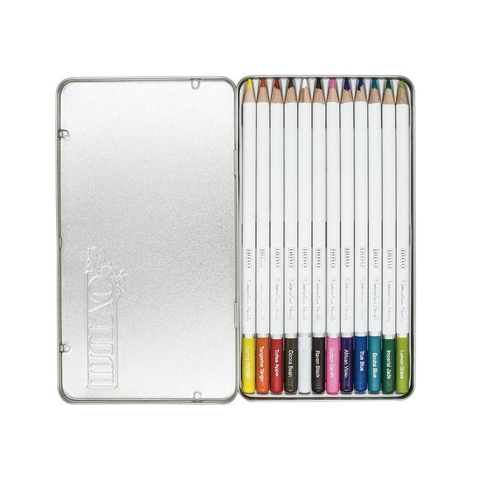 Watercolor Pencils Brilliantly Vibrant / 12 Lápices Acuarelables