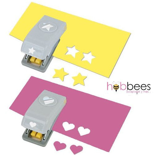 2 Pack Heart & Star Punch / Perforadoras de Estrella y Corazón - Hobbees