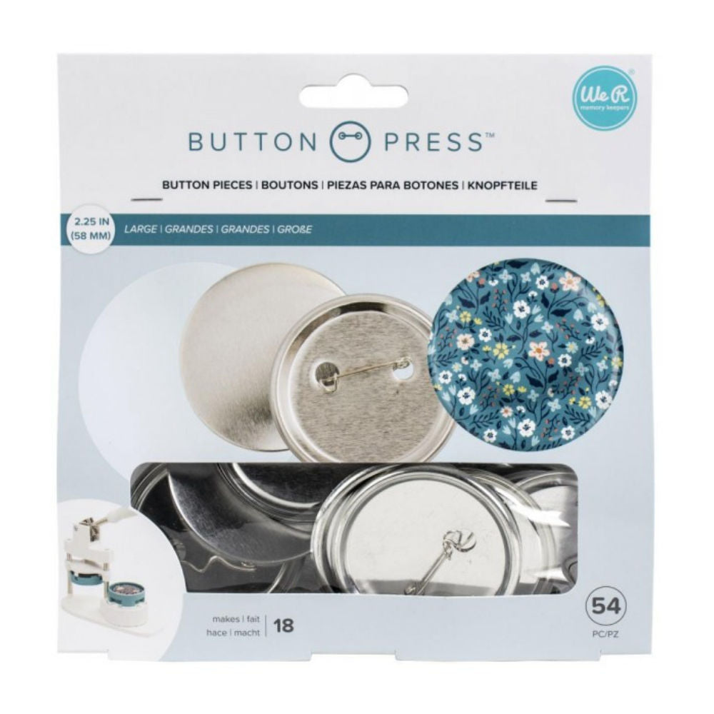 Button Press Large Pins Refill  / 18 Botones Grandes Personalizables