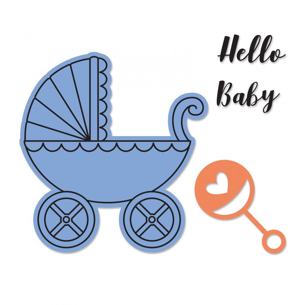 Framelits Die & Stamp Set Baby Carriage / Suaje y Sello de Carriola