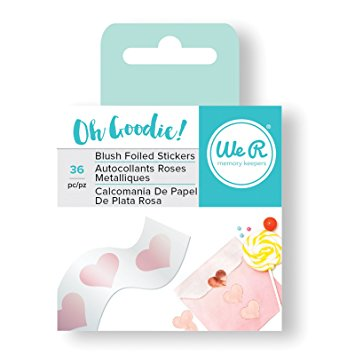 Oh Goodie Collection Foiled Stickers Hearts / Calcomanias Metalizadas en Rosa