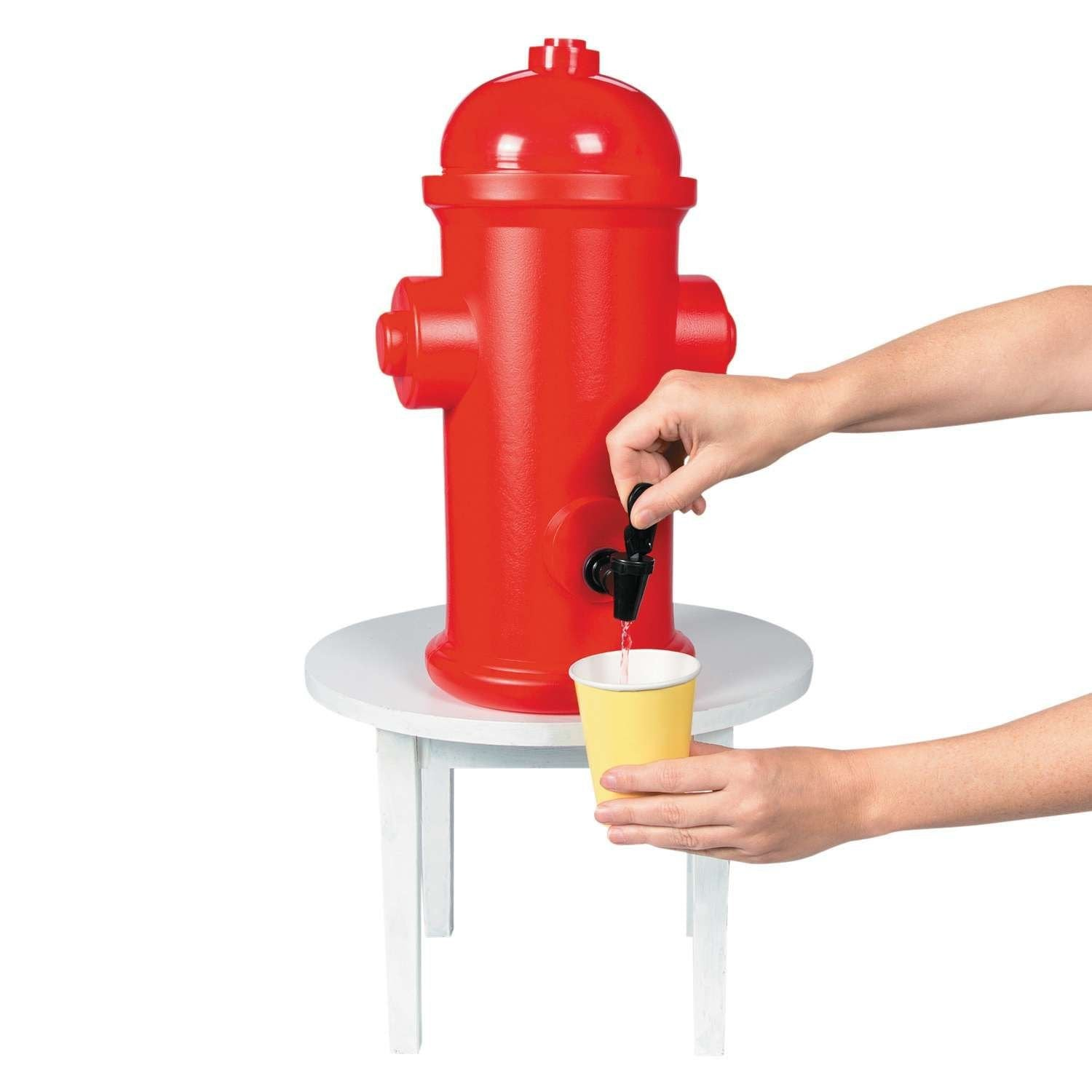 Firefighter Party Hydrant Drink Dispenser / Dispensador de Bebidas