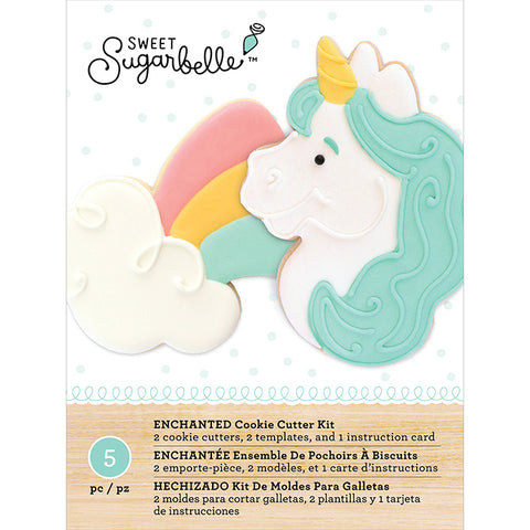 Cookie Cutter Set Enchanted / 2 Cortadores de Galletas Unicornio y Arcoiris