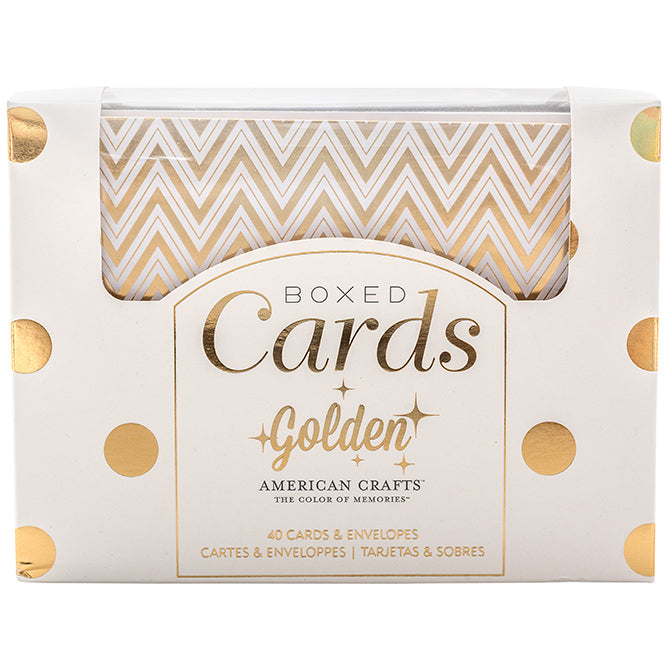 Golden Box of Cards / Tarjetas y Sobres Doradas