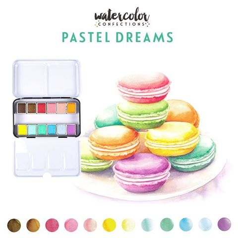 Watercolor Confections Pastel Dreams / Estuche de Acuarelas en Tonos Pasteles