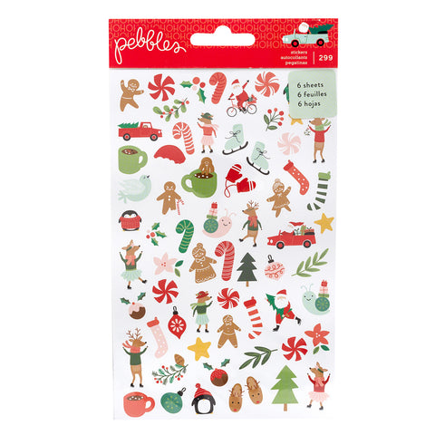 Paper Stickers Merry Little Christmas / 299 Estampas Navideñas