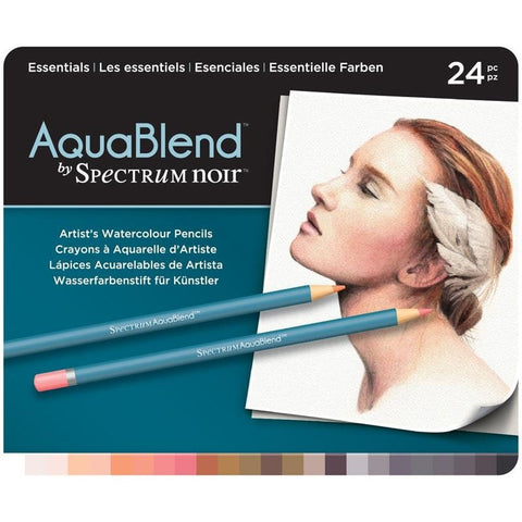 AquaBlend By Spectrum Noir Essentials 24 Set / Lápices de Colores Acuarelables