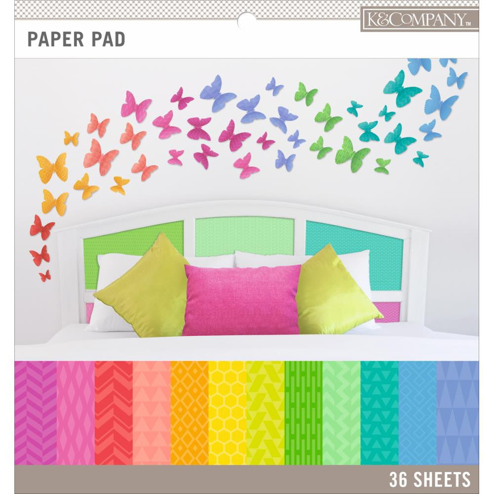 Block de Papel Decorado en Colores Brillantes / Brights Color Basic Paper Pad - Hobbees