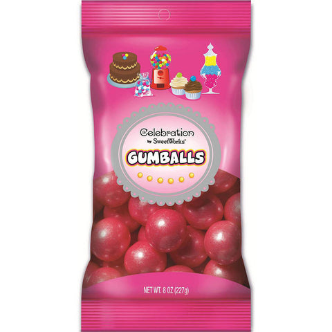 Bright Pink Gumballs Celebration / Goma de Mascar Rosa Brillante