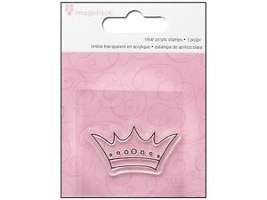 Clear Acrylic Stamp / Sello de Polímero Corona - Hobbees