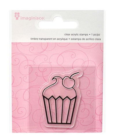 Clear Acrylic Stamp / Sello de Polímero Cupcake - Hobbees