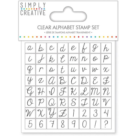 Clear Alphabet Stamp Set / Set de Sellos Transparentes de Alfabeto - Hobbees