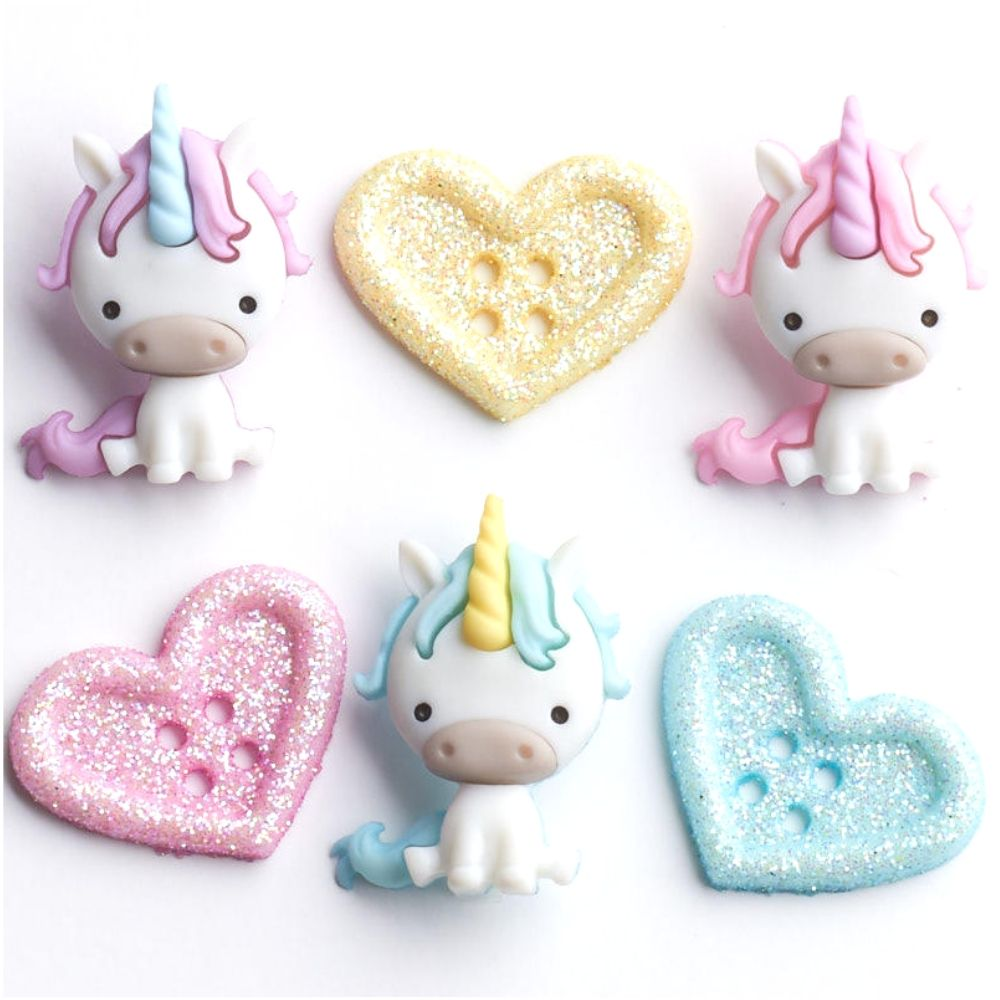 Unicorn Love Embellishments / Adornos de Unicornio