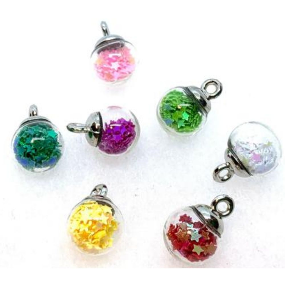 Rainbow Mini Bubbles Embellishments / Esferitas de Colores