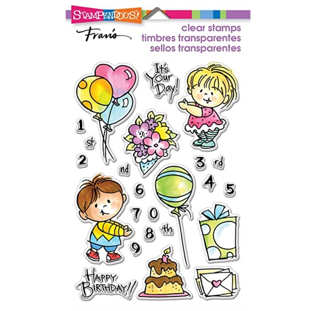 Birthday Kids Clear Stamps / Sellos de Cumpleaños