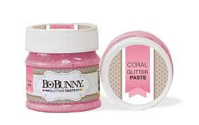 Coral Glitter Paste / Pasta Brillante Rosa Intenso - Hobbees