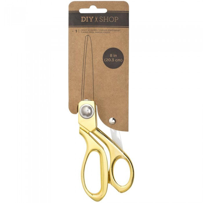 "Cutup Scissors 8"" GOLD Metal / Tijeras Doradas - Hobbees"