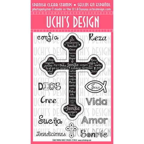 Clear Stamps Cross  / Sellos De Polimero Cruz