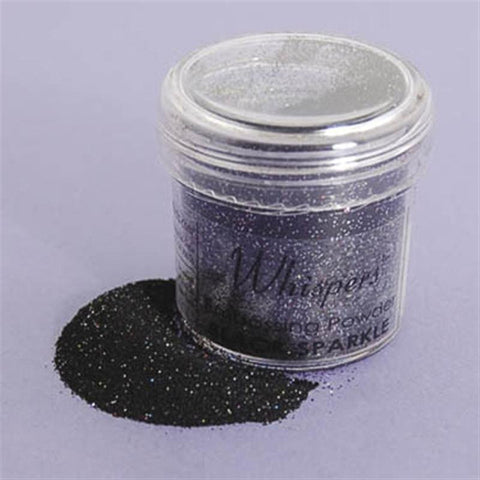 Glitter Black Sparkle Embossing Powder / Polvo de Relieve Negro Diamantado - Hobbees