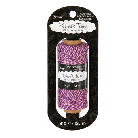 Rollo de Hilo Twine 125 metros Rosa-Morado / Bakers Twine Cotton Pink-Purple - Hobbees - 1