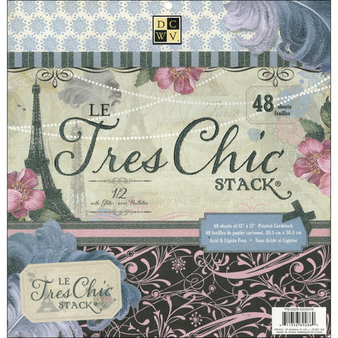 Le Tres Chic Cardstock Stack / Copy of Cartulina con Motivos de Paris - Hobbees - 1