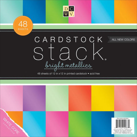 Cartulina de Colores Metálicos / Cardstock Stack Bright Metallics - Hobbees