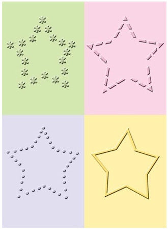 Folder de Grabado / Embossing Folder Decorative Stars - Hobbees