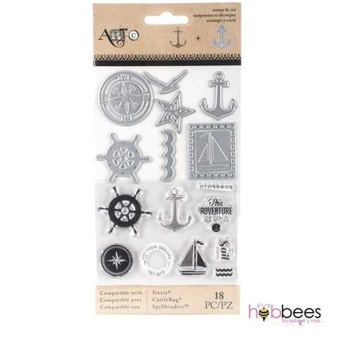 Nautical Stamp & Die Set / Sellos y Suajes Nautico