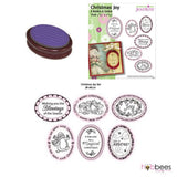 Stamping Oval 9 Piece Set / Set de Sellos Intercambiables