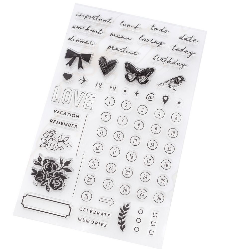 Day-To-Day Planner Clear Stamp Set / Sellos para Agendas