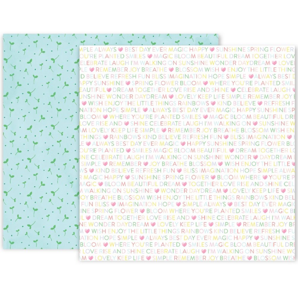 Bloom Street Patterned Paper #4 / Papel Estampado Doble Cara