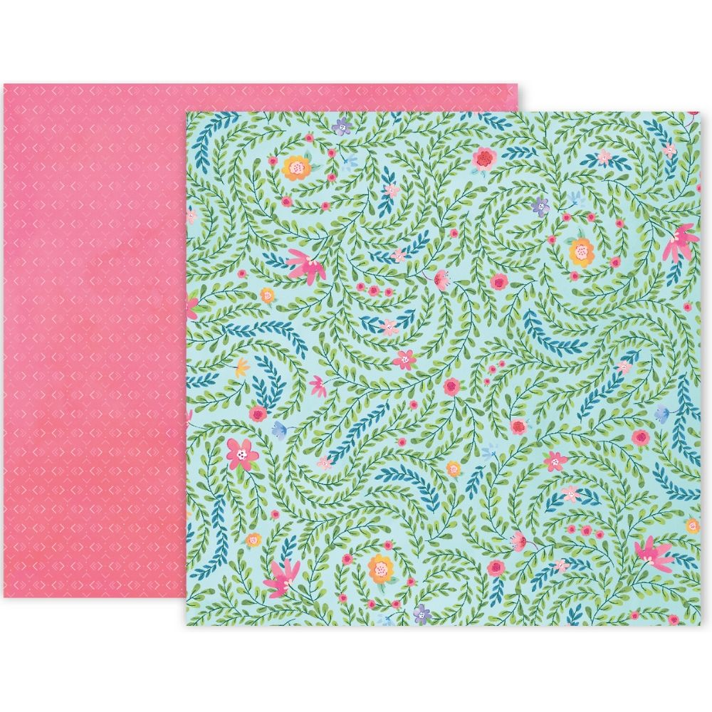 Bloom Street Patterned Paper #5 / Papel Estampado Doble Cara