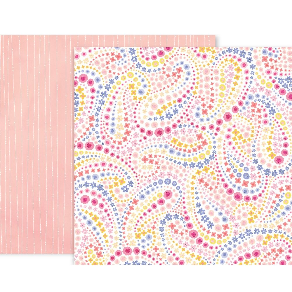 Bloom Street Patterned Paper #18 / Papel Estampado Doble Cara